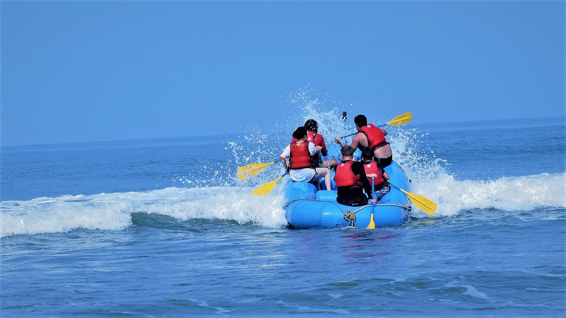 Sea Rafting in Goa